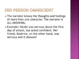 first person narrative examples essays
