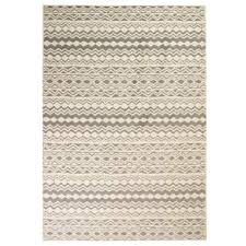 vidaxl modern rug traditional design 80x150 cm beige grey 1 5