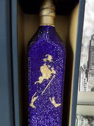 Collectors Item Icy Couture Crystal Bottle Of Johnnie Walkers Blue Label Whisky