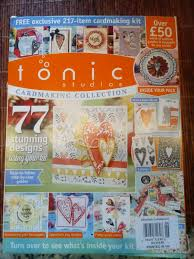 Tonic Studios Design Collection Magazine Tonic Studios Cardmaking Issue 4 W Stamps Heart Die Set Embossing Folder More