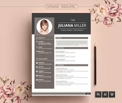 Template Creative Resume Template Modern Cv Word Cover Letter Free