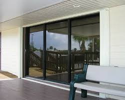 standard accordion shutters on sliding glass doors closed position
