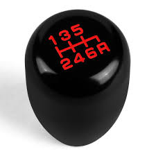 6 Speed MT 10x1 5 Aluminum Racing Shift Knob Black