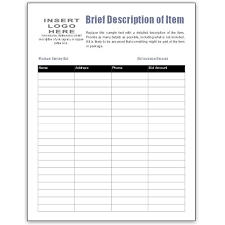 Excel Spreadsheet For Silent Auction | Onlyagame