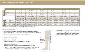 Ariat Mens English Tall Boots Size Chart Story Board