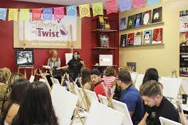 san antonio artist and painting with a twist instructor maci nicole stroud offered invaluable help to