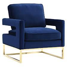 modern chair. Call To Order · Austria Blue Velvet + Gold Modern Lounge Chair