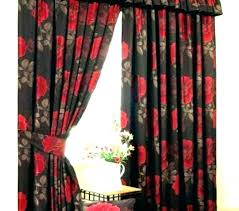 red and black curtains bedroom curtain panels decorating blackout