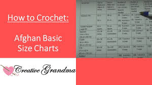 Basic Size Charts For Afghans How Many Squares To Make Afghan Free Charts