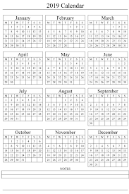 2019 Calendar Printable Template 2019 Printable Calendar Templates Blank Word Pdf 2018 Calendar