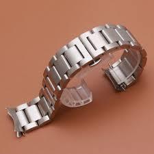 <b>Ремешок</b> для часов с изогнутыми концами серебристого и ...