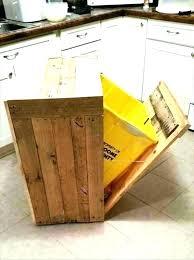 trash can holder cabinet storage kitchen garbage bin wooden diy storag
