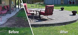raised paver patio. Modren Patio Before And After Raised Paver Patio   Intended