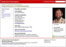 Personal Web Pages For Isu Math