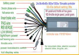 lcd display24v36v48v60v bldc controller 400w 1200w for electric 15mosfet controller 24 60v