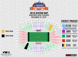Air Force Football Seating Chart Individual Tickets Celebration Bowl