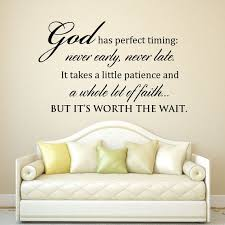 Gods Timing Quotes Classy Scripture Wall Decal God Has Perfect Timing Never Early Etsy