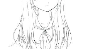 Anime Girl Coloring Pages Book Home Improvement To Print Printable