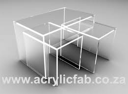 perspex furniture. Acrylic Nesting Tables Are Same In Sparkling Mode Perspex Furniture I