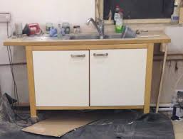 ikea varde freestanding kitchen sink unit with tap and waste in ikea varde shelving unit birch