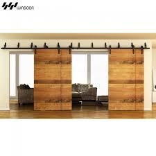 winsoon modern 4 doors byp sliding barn door hardware track kit 5 16ft