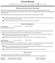 Sample Resume For Teachers Awesome Teacher Sample Resumes Sample Resume For Teacher Sample Resume