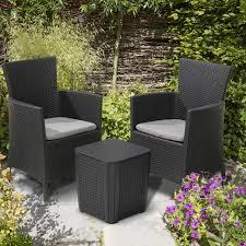 allibert iowa garden chair graphite
