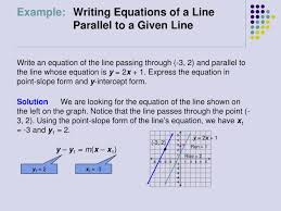 solution we are looking for the equation of the line shown