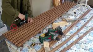 outdoor wooden slat bench seat how to