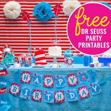Dr Seuss Party Decorations Free Dr Seuss Party Printables Sunshine Parties