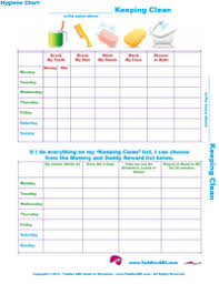Free Printable Hygiene Charts For Toddlers Toddler Chart