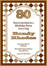 a birthday invitation 15 sample 80th birthday invitations templates ideas free sample