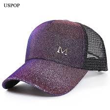 <b>2019 USPOP 2019 New</b> Women Glitter Baseball Caps <b>Summer</b> ...