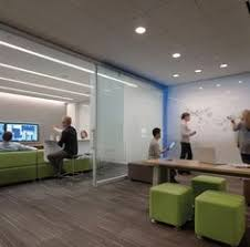 Collaborative office space Ergonomic Divided Working Space Using Informal Elements Of Furniture And Integrated Technology Positive Work Environment Pinterest 54 Best Collaboration Spaces Images In 2019