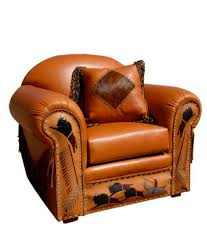 buffalo run western leather chair