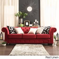 sofa craftsman style red sofa living room.  craftsman carthusia tufted button sofa in red throughout craftsman style living room a