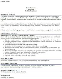 Examples Cv Estate Agent Cv Example Icover Org Uk