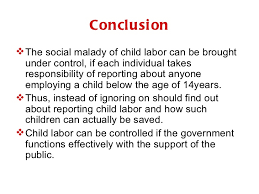 conclusion for child labour essay child labour essays child labour labour economics scribd