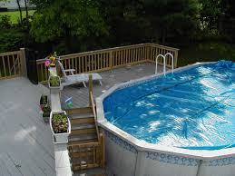 ... Impressive Image Of Backyard Landscaping Decoration Using Above Ground  Round Pool Deck Ideas : Inspiring Backyard