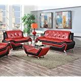 Red and black furniture Light Us Pride Furniture Piece Modern Bonded Leather Sofa Set With Sofa And Loveseat Red Filetownzinfo Amazoncom Red Living Room Sets Living Room Furniture Home