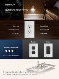Snappower Guide Light Snappower Guidelight Outlet Wall Plate With Led Night