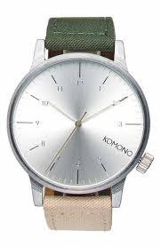 all men s watches nordstrom komono winston heritage multitoned canvas strap watch