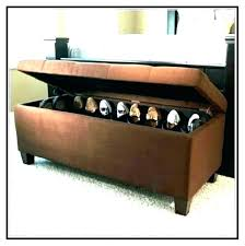shoe ottoman bench bedroom shoe storage ottoman bench diy