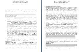 sales contracts sample sales agreement template sales contract gif letterhead template