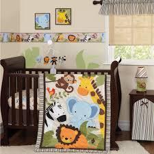 bedtime originals jungle buds 3 piece crib bedding set brown yellow 218003v