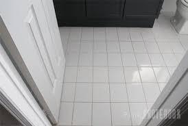 white tile floor. Fine White PaintingGroutAcrylic4_PLN Throughout White Tile Floor