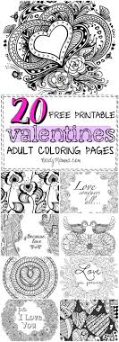 20 Free Printable Valentines Adult Coloring