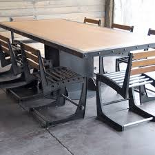 Industrial Dining Room Table Minimalist Style Of Metal Dining Chairs Industrial