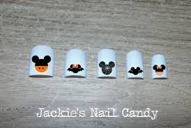 Mickey and Minnie Mouse Heads Halloween Nail Decals Black