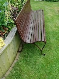 vintage victorian garden park bench